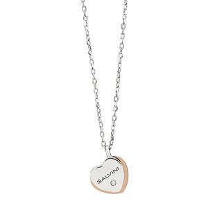 Collana in oro bianco e rosa 9kt con diamanti Be Happy