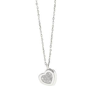 Collana in oro bianco 9kt con diamanti Be Happy