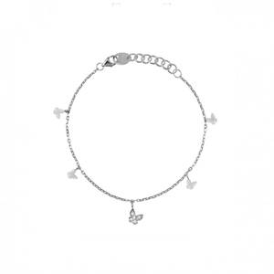 Bracciale Oro bianco e Diamanti BE HAPPY