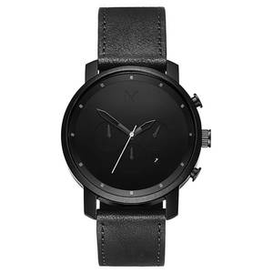 Orologio Uomo Cronografo CHRONO BLACK LEATHER