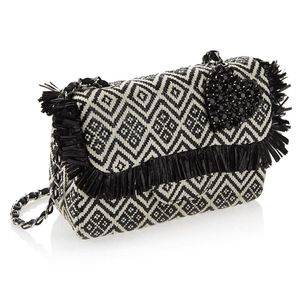 Clutch in Rafia con Cristalli