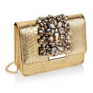 Clutch in Ecopelle con Strass e Cristalli
