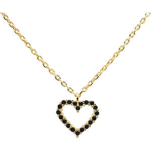 COLLANA IN ORO BLACK HEART