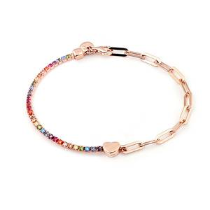 Shimmer Rainbow con Cuore Rose Gold